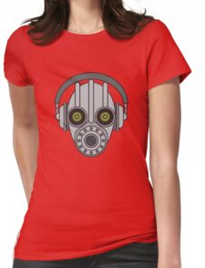Gasmask Robot Head Womens Fitted T-Shirt