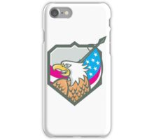 American Bald Eagle Flag Spear Retro iPhone Case/Skin
