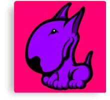 Odie English Bull Terrier Purple  Canvas Print