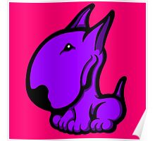 Odie English Bull Terrier Purple  Poster