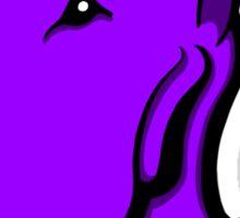 Odie English Bull Terrier Purple  Sticker