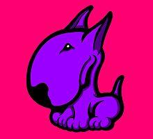 Odie English Bull Terrier Purple  by Sookiesooker