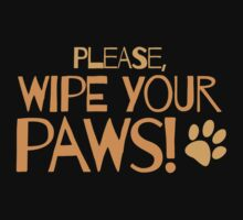 Please wipe your paws by jazzydevil