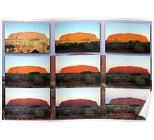 The Changing Colours of Uluru - A Sunset Spectacular Poster