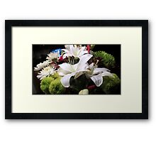 Beautiful Mixed Floral Bouquet Framed Print
