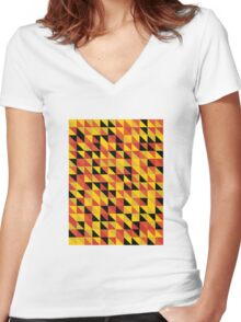 """Monarch"" Pattern v1 Women's Fitted V-Neck T-Shirt"