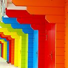 Beach Huts Scarborough UK by Bevellee