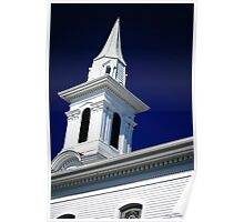 Clinton Steeples Poster