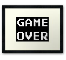 Game Over. Framed Print