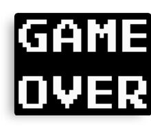 Game Over. Canvas Print