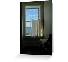 Window in old fort Greeting Card