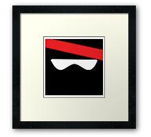 Ninja head Framed Print