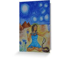 The Goddess Isis Greeting Card
