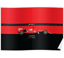 2015 Formula 1 Scuderia Ferrari SF15-T with carbon fiber bar Poster