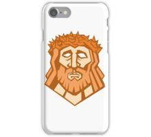 Jesus Christ Face Crown Thorns Retro iPhone Case/Skin