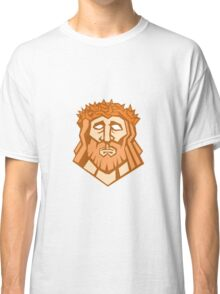Jesus Christ Face Crown Thorns Retro Classic T-Shirt