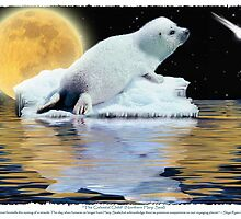 """The Celestial Child"" (Harp Seal) by Skye Ryan-Evans"