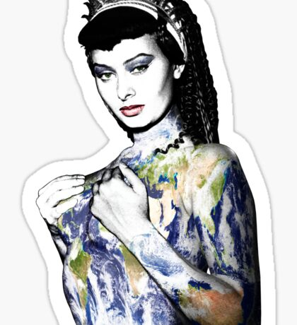 """Title: """"Slave Queen"""" Sophia Loren, Sexy, Two Nights With Cleopatra, Earth Goddess. Sticker"""