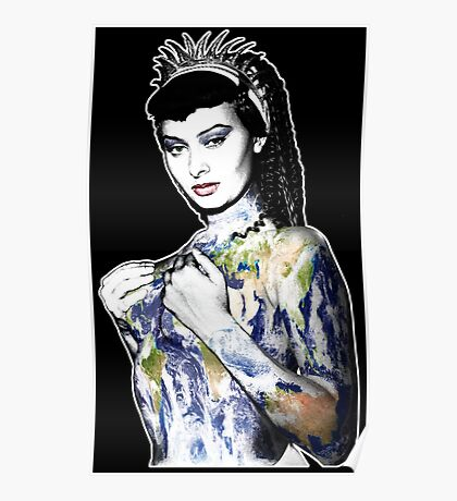 """Title: """"Slave Queen"""" Sophia Loren, Sexy, Two Nights With Cleopatra, Earth Goddess. Poster"""