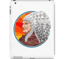Native American Indian Chief Warrior Low Polygon iPad Case/Skin