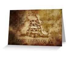 dont tread on me Greeting Card