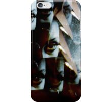 Multi-image surreal portrait of young lady in the dark in surrealist blue green tones iPhone Case/Skin