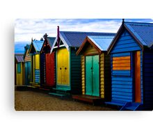Brighton Boxes Canvas Print