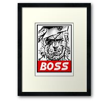 Boss Framed Print