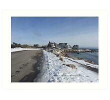 Weekapaug, Rhode Island - Winter 2015 - Overlook 2 Art Print