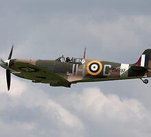 Spitfire Vb in flight by PhilEAF92