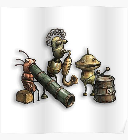 Machinarium's Jazz Band Poster