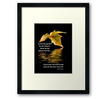 Count Your Life With Smiles Framed Print