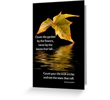 Count Your Life With Smiles Greeting Card