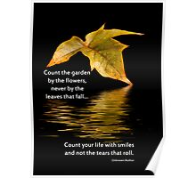 Count Your Life With Smiles Poster