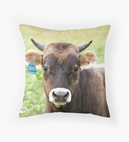 A Little Bull Throw Pillow