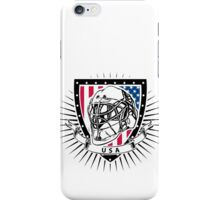 usa ice hockey helmet shield iPhone Case/Skin
