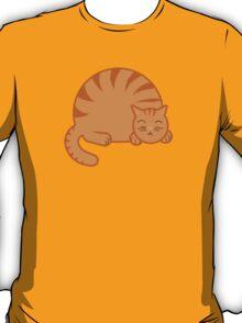 Sleeping Chubby Kitty - Orange T-Shirt