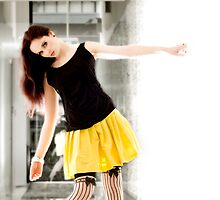 Anne Duffy Fashion Shoot Yellow Skirt by Tony Lin