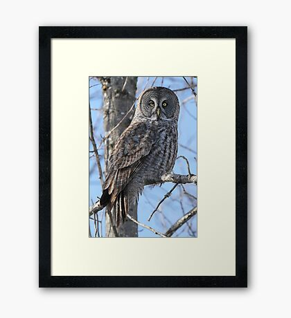 She will search the depths of your soul Framed Print
