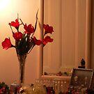 Silk Roses Reflected by Rosalie Scanlon