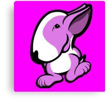 English Bull Terrier Stroll Lilac Canvas Print