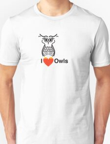 I Love Owls T-Shirt