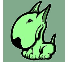 Odie English Bull Terrier Pale Green  Photographic Print