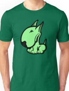 Odie English Bull Terrier Pale Green  Unisex T-Shirt