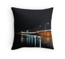 Forster Tuncurry Bridge at Night Throw Pillow