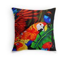 Parrot Paradise Throw Pillow