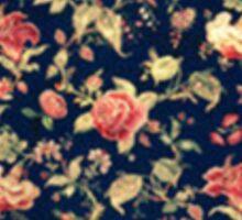 Vintage Floral Roses Sticker