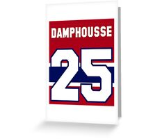 Vincent Damphousse #25 - red jersey Greeting Card