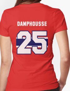 Vincent Damphousse #25 - red jersey Womens Fitted T-Shirt