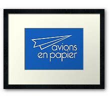 Paper Planes Extras: Mid Blue Framed Print